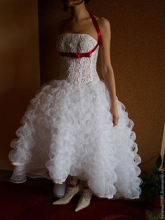 Платья ручной работы. Ярмарка Мастеров - ручная работа. Купить Свадебное платье. Handmade. Белый, цветочный, кружевное полотно, регилен
