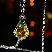 Украшения handmade. Livemaster - original item Radiovolny pendant with Swarovski crystal Baroque. Handmade.