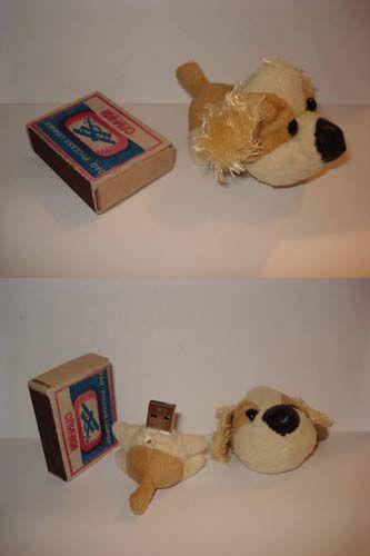 Компьютерные ручной работы. Ярмарка Мастеров - ручная работа. Купить флешка-игрушка 1Гб (собачка). Handmade.