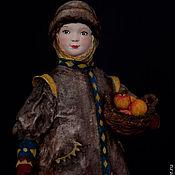 """Куклы и игрушки ручной работы. Ярмарка Мастеров - ручная работа Художественная кукла """"Варечка с яблочками"""". Handmade."""