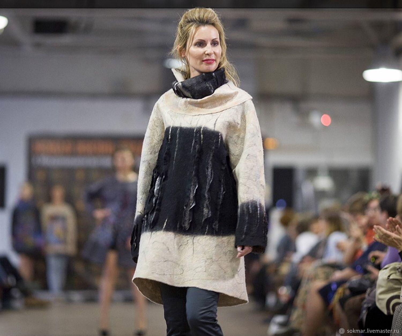 sweater dress. Sweater felted'Alaska», Sweaters, St. Petersburg,  Фото №1