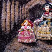 """Картины и панно ручной работы. Ярмарка Мастеров - ручная работа объемное панно """"Инфанты"""". Handmade."""