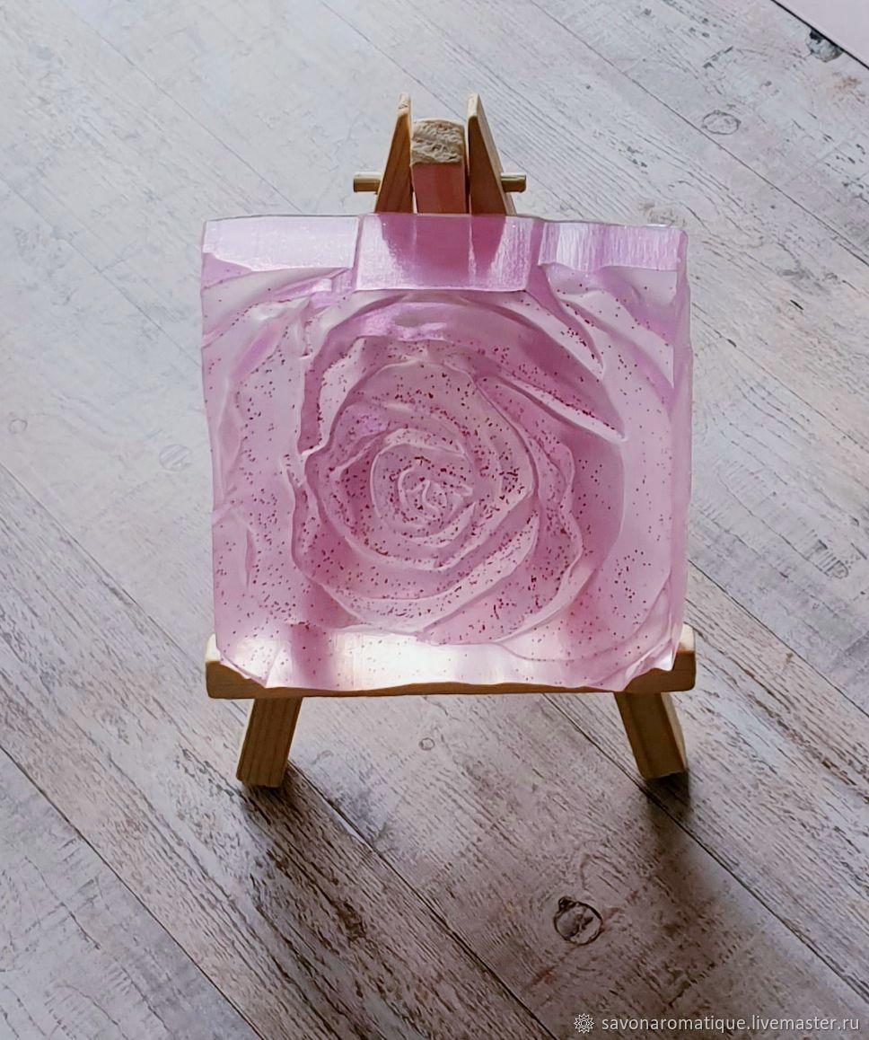 Роза квадрат. Мыло ручной работы, Мыло, Москва,  Фото №1