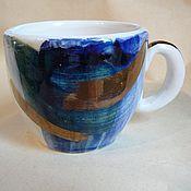 """Посуда ручной работы. Ярмарка Мастеров - ручная работа Кофейная чашка """"Белые ночи"""" Санкт-Петербург. Handmade."""