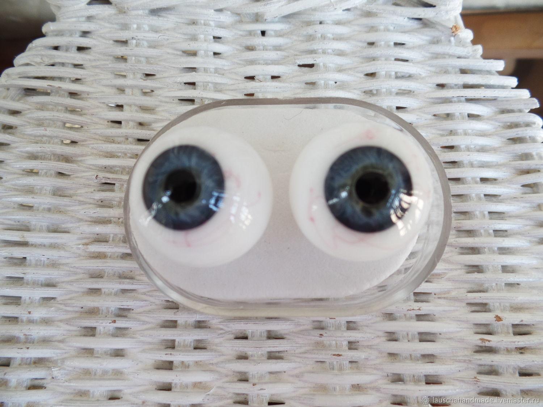 Глаза для кукол Лауша с венами.22мм.Голубосерые.Стекло. Германия, Заготовки для кукол и игрушек, Омск,  Фото №1