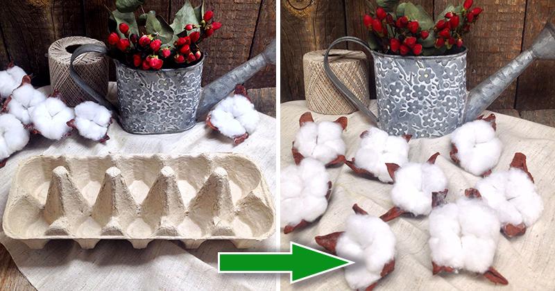 Как сделать цветок хлопка из ваты своими руками