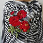 Материалы для творчества handmade. Livemaster - original item Embroidery, lace, applique. Cheeky Rose. Handmade.