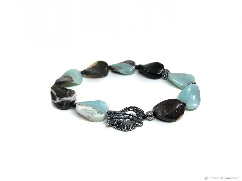 Bracelet on the beach. Natural aquamarine, accessories Anna Chernykh, Bead bracelet, Moscow,  Фото №1