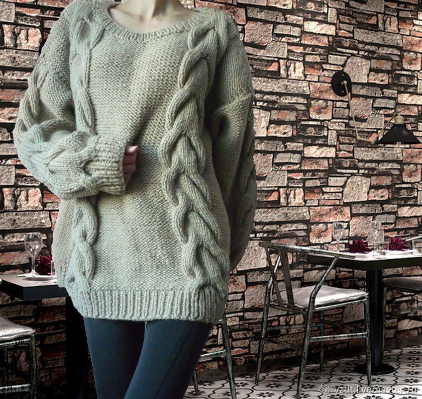 плёнку объемный свитер крупной вязки фото потомки