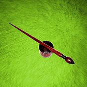 Материалы для творчества handmade. Livemaster - original item Spindle for spinning Pine (with base) Wooden shank #B9. Handmade.