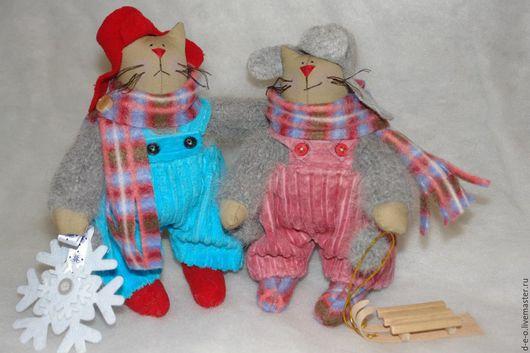Куклы Тильды ручной работы. Ярмарка Мастеров - ручная работа. Купить Кошачье семейство. Handmade. Комбинированный, коты и кошки, котики