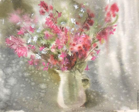 Картины цветов ручной работы. Ярмарка Мастеров - ручная работа. Купить Акварель Зимний сон.. Handmade. Брусничный, акварель