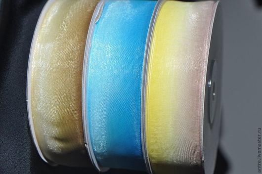 Шитье ручной работы. Ярмарка Мастеров - ручная работа. Купить Лента Органза двухцветная. Handmade. Лента, лента органза