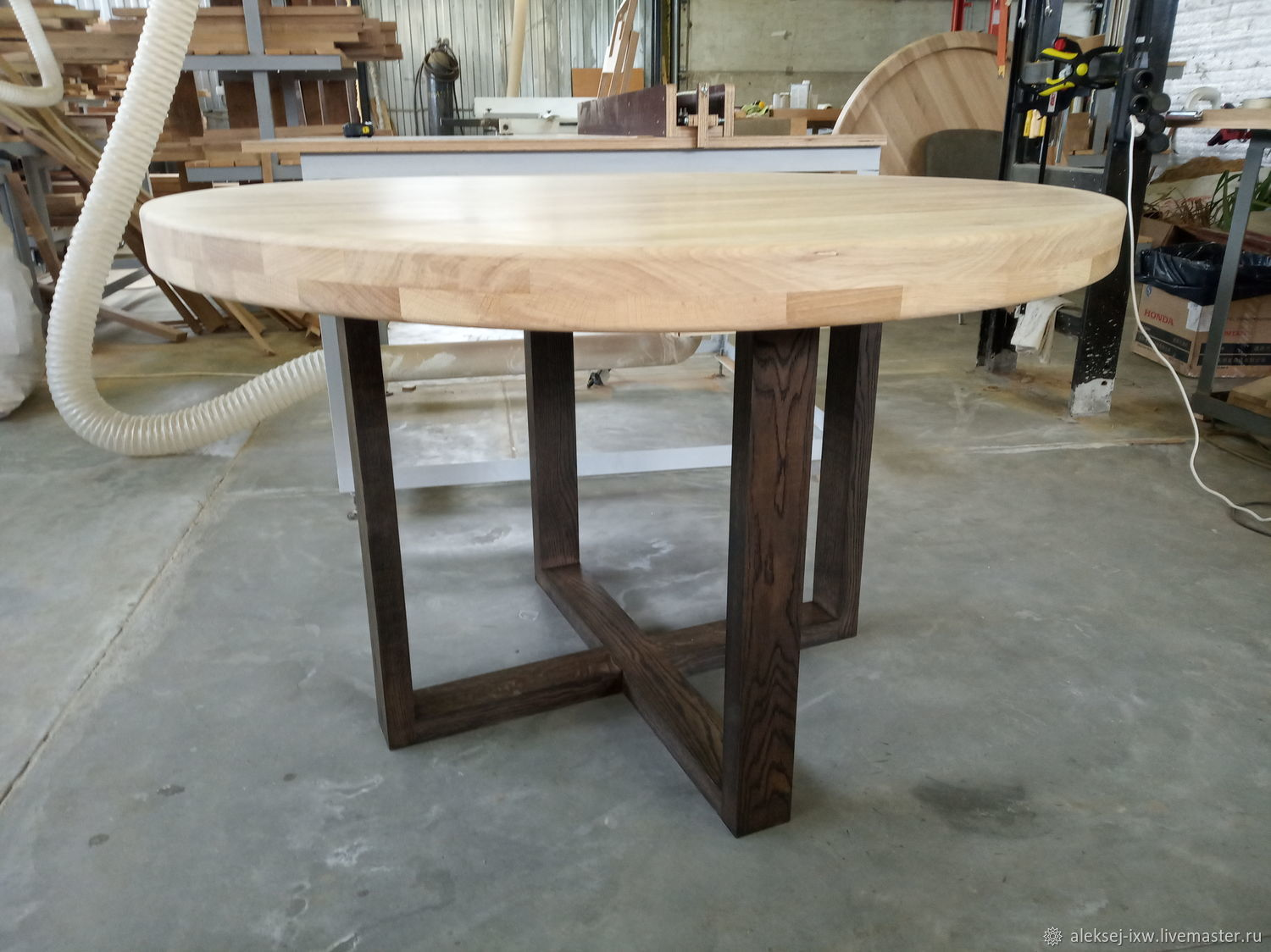 Dining table made of oak 1200 mm, Tables, Moscow,  Фото №1