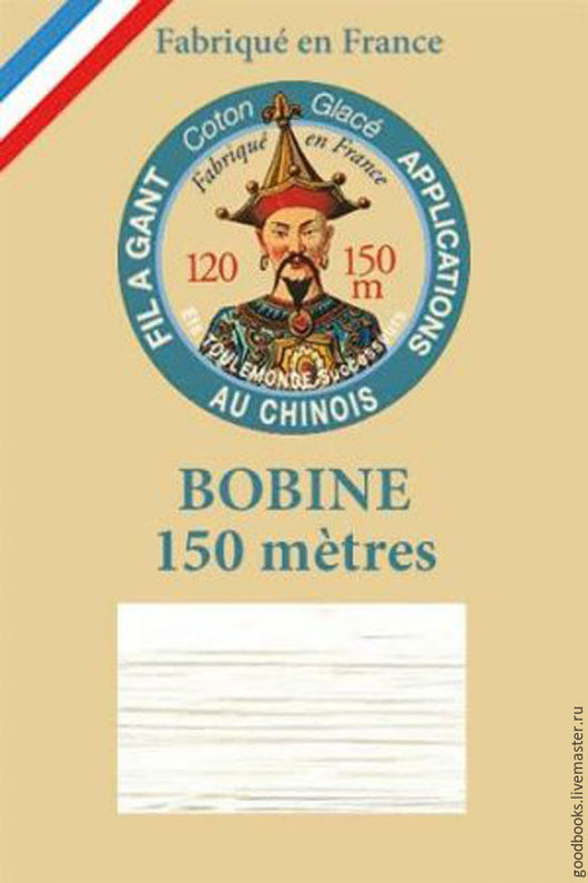 Вышивка ручной работы. Ярмарка Мастеров - ручная работа. Купить Хлопковые французские нитки Fil a Gant Blanc 100. Handmade.