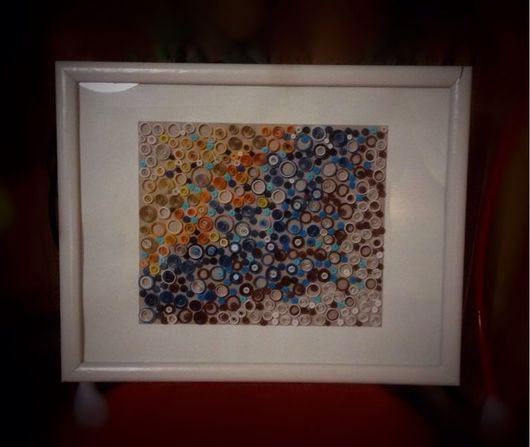 Абстракция ручной работы. Ярмарка Мастеров - ручная работа. Купить Картина в технике квиллинг. Handmade. Квиллинг, картина, бумага