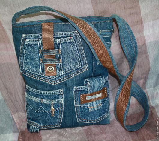 """Женские сумки ручной работы. Ярмарка Мастеров - ручная работа. Купить Джинсовая сумка """"Jeans style"""". Handmade. Тёмно-синий"""