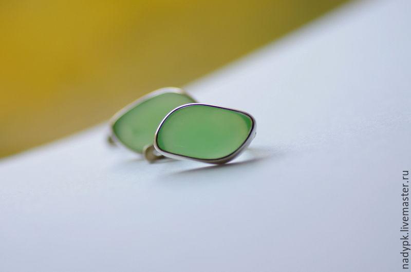 Earrings chrisopulos 'Tender petal', silver, Earrings, Moscow,  Фото №1