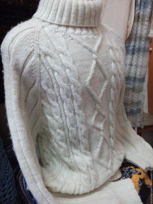 Для мужчин, ручной работы. Ярмарка Мастеров - ручная работа. Купить свитер БЕЛОСНЕЖНЫЙ. Handmade. Свитер вязаный, свитер с аранами
