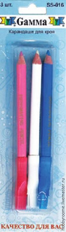 Шитье ручной работы. Ярмарка Мастеров - ручная работа. Купить Карандаши для кройки 3 шт.. Handmade. Разноцветный, карандаш для кроя