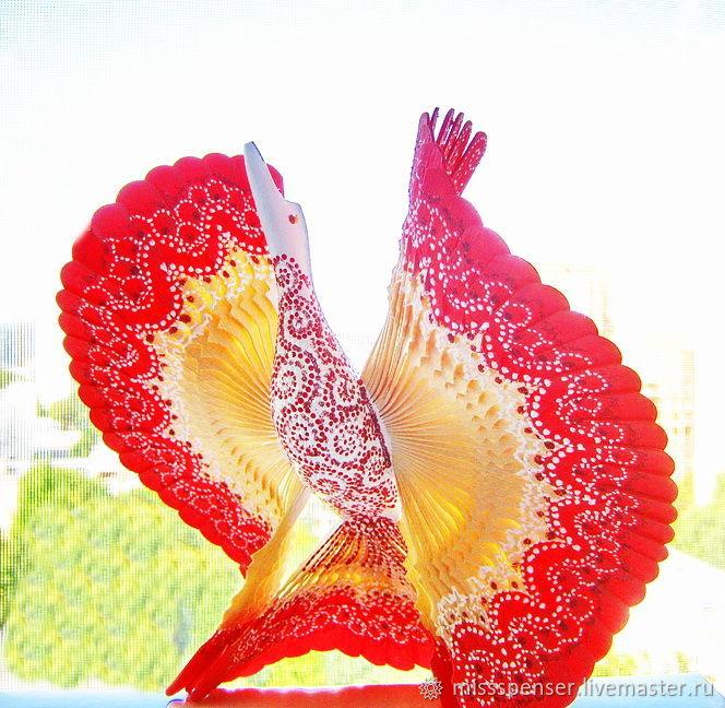 Подарки: Птица счастья для молодой семьи, дерево, роспись, Подарки на свадьбу, Москва, Фото №1