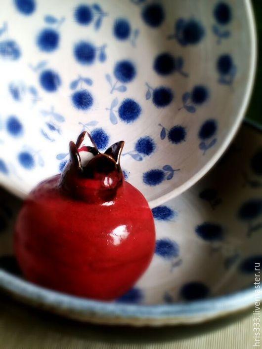 """Вазы ручной работы. Ярмарка Мастеров - ручная работа. Купить Вазочка керамическая """"Гранат"""". Handmade. Ярко-красный, емкость, плодородие"""