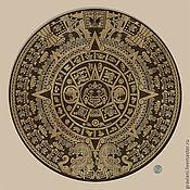 Картины и панно ручной работы. Ярмарка Мастеров - ручная работа календарь Ацтеков. Handmade.