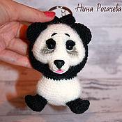 Куклы и игрушки handmade. Livemaster - original item Key Chain Panda. Panda knitted. Handmade.