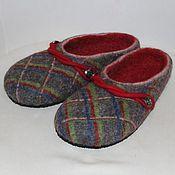 """Обувь ручной работы. Ярмарка Мастеров - ручная работа Тапочки валяные мужские """"Шотландия"""" тапочки валяные. Handmade."""