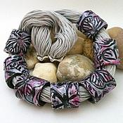 Колье ручной работы. Ярмарка Мастеров - ручная работа Колье из полимерной глины с бабочкой FLY. Handmade.