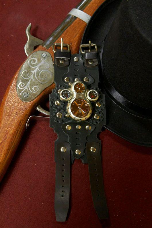 """Часы ручной работы. Ярмарка Мастеров - ручная работа. Купить Часы наручные """" Пилот Дирижабля """" стимпанк. Handmade."""