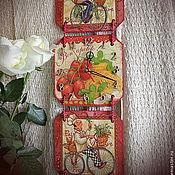 """Часы классические ручной работы. Ярмарка Мастеров - ручная работа Часы-триптих """"Весёлые поварята"""".. Handmade."""