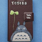 Сумки и аксессуары ручной работы. Ярмарка Мастеров - ручная работа чехол Тоторо коричневый для iPhone. Handmade.