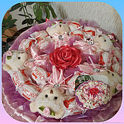 Цветы и флористика handmade. Livemaster - original item Bouquets of sweets and toys to your Beloved friend. Handmade.