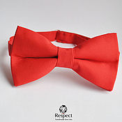 Аксессуары handmade. Livemaster - original item Red butterfly tie / wedding in red, groom`s bowtie. Handmade.