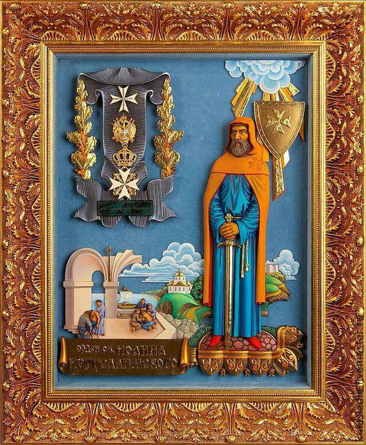 Репродукции ручной работы. Ярмарка Мастеров - ручная работа. Купить Панно Орден Святого Иоанна Иерусалимского (Мальтийский крест). Handmade.