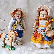 """Куклы и пупсы ручной работы. Ярмарка Мастеров - ручная работа Кукольный набор """"Гензель и Гретель"""". Handmade."""