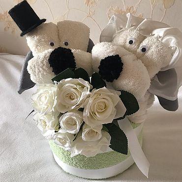 Свадебный салон ручной работы. Ярмарка Мастеров - ручная работа Свадебный торт из полотенец. Handmade.