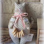 Куклы и игрушки handmade. Livemaster - original item Cat testily in the style of Tilda with bagels. Handmade.