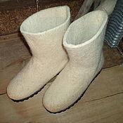 Обувь ручной работы. Ярмарка Мастеров - ручная работа Валенки на подошве. Handmade.