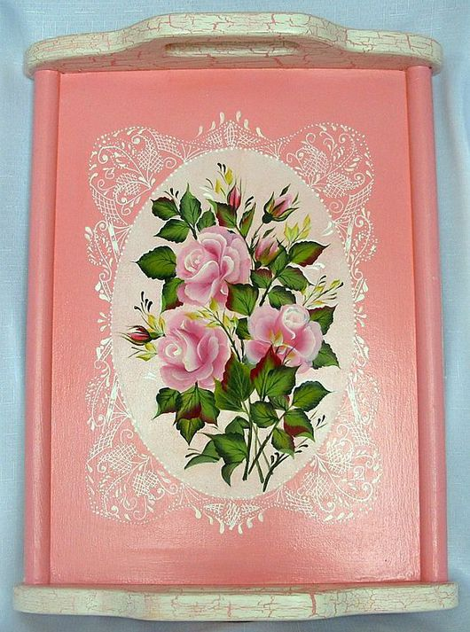Kitchen handmade. Livemaster - handmade. Buy Wooden tray with painted ' Magic lace'.Tray, painting, gift