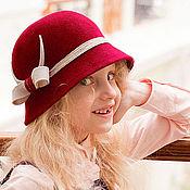 Аксессуары handmade. Livemaster - original item hat Cloche Burgundy. Handmade.