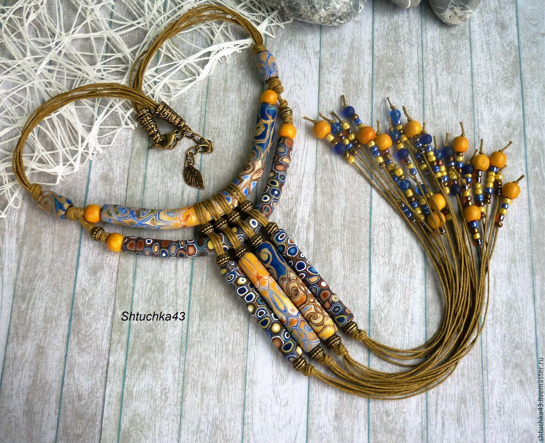 Necklace 'Cleopatra' blue, Necklace, Kirov,  Фото №1