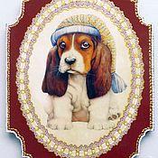 Картины и панно ручной работы. Ярмарка Мастеров - ручная работа Доска панно  Мечты сбываются Собака - символ года. Handmade.