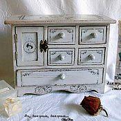 Для дома и интерьера ручной работы. Ярмарка Мастеров - ручная работа Мини-комод для туалетного столика. Handmade.