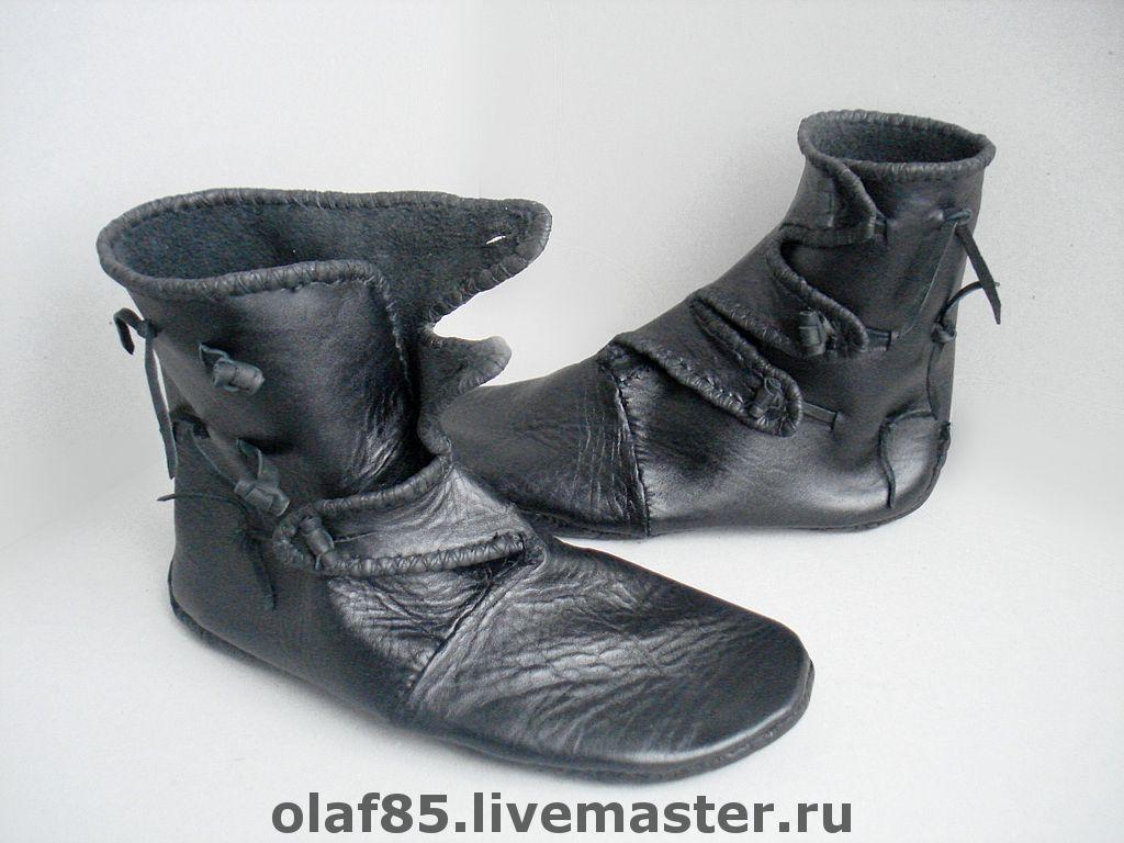 Обувь ручной работы. Ярмарка Мастеров - ручная работа. Купить Обувь ручной работы из натуральной кожи. Реконструкция Хедебю. Handmade.