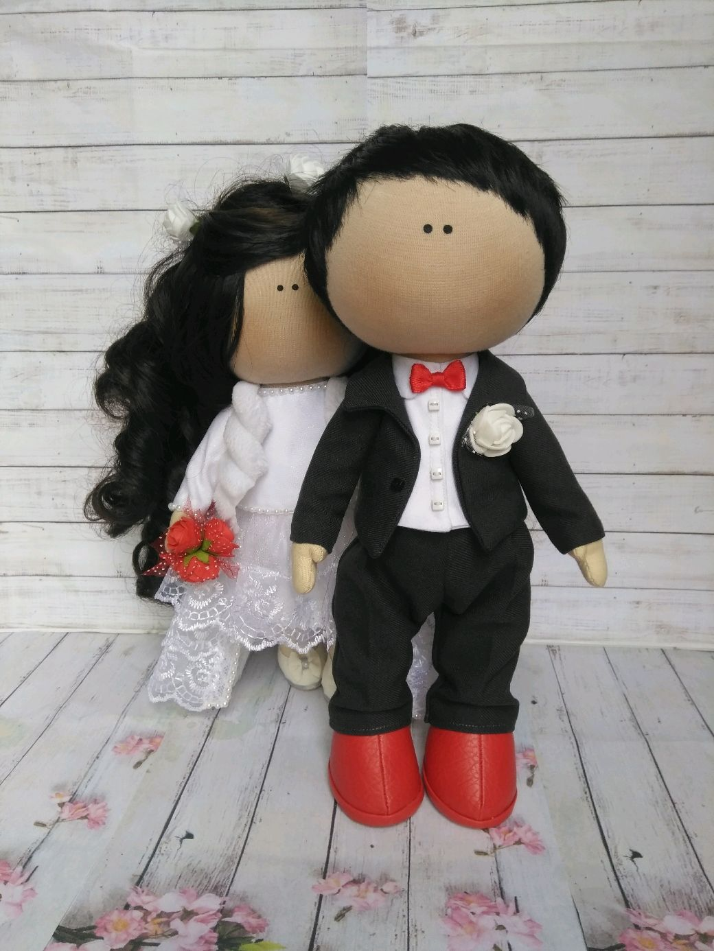 Интерьерные куклы Влюбленная пара, Тыквоголовка, Монино,  Фото №1