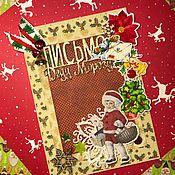Открытки ручной работы. Ярмарка Мастеров - ручная работа Открытка «Письмо Деду Морозу». Handmade.