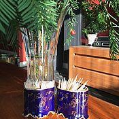 Винтаж handmade. Livemaster - original item Antique toothpick cups, Germany, cobalt, gold 22k.. Handmade.