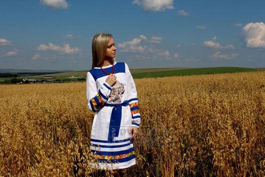 """Платья ручной работы. Ярмарка Мастеров - ручная работа. Купить Платье """"Жива"""". Handmade. Белый, славянское платье, славянская одежда"""